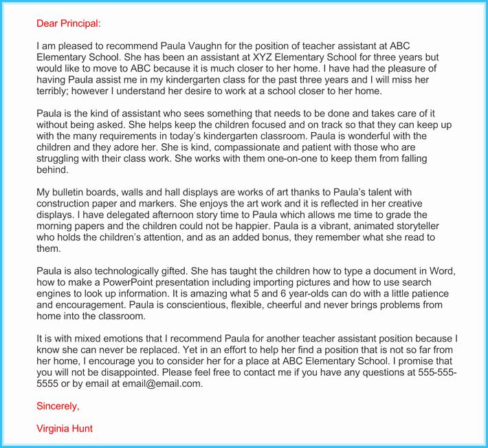 Teacher Recommendation Letter Sample Lovely Teacher Re Mendation Letter 20 Samples Fromats
