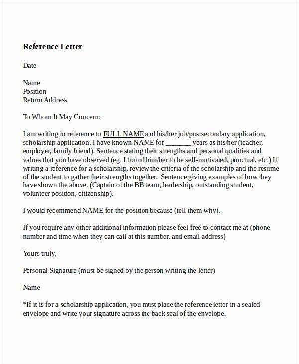 Teacher Recommendation Letter Sample New 8 Reference Letter for Teacher Templates Free Sample