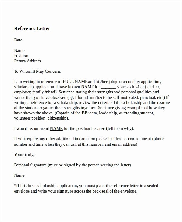 Teacher Recommendation Letter Samples Unique 8 Reference Letter for Teacher Templates Free Sample