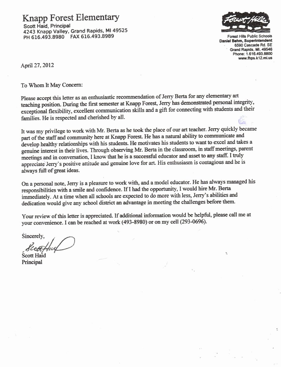 Teaching Award Recommendation Letter Beautiful Letter Re Mendation for A Teacher and Student Example