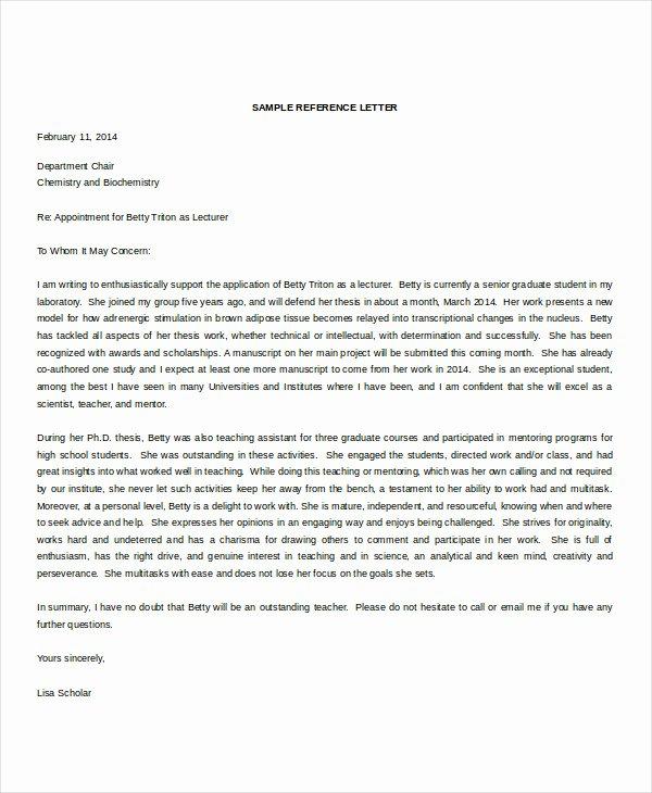 Teaching Award Recommendation Letter Lovely Re Mendation Letter 15 Free Word Pdf Documents