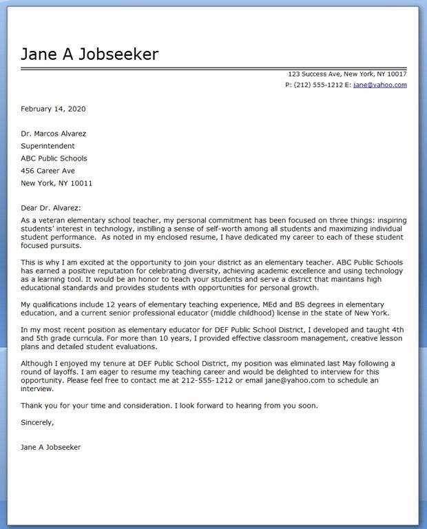 Teaching Cover Letter format Luxury Job Application Letter Sample for English Teacher Cover