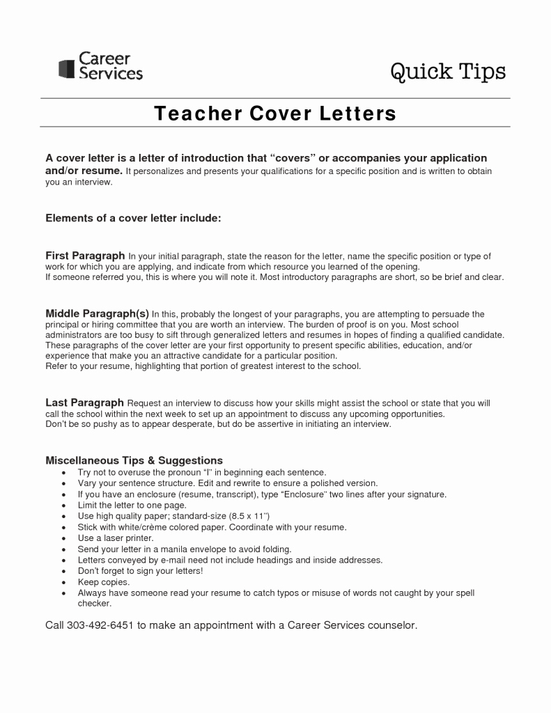 Teaching Cover Letter format Luxury Sample Cover Letter for Teaching Job with No Experience