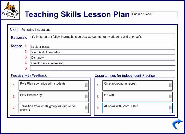 Teaching Lesson Plan Template Luxury Kidtools Missouri See tool