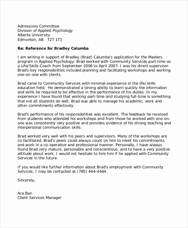 Teaching Letter Of Recommendation Inspirational 8 Reference Letter for Teacher Templates Free Sample