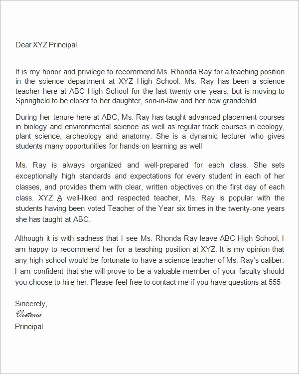 Teaching Letter Of Recommendation Template Unique 25 Best Ideas About Writing Letter Of Re Mendation On