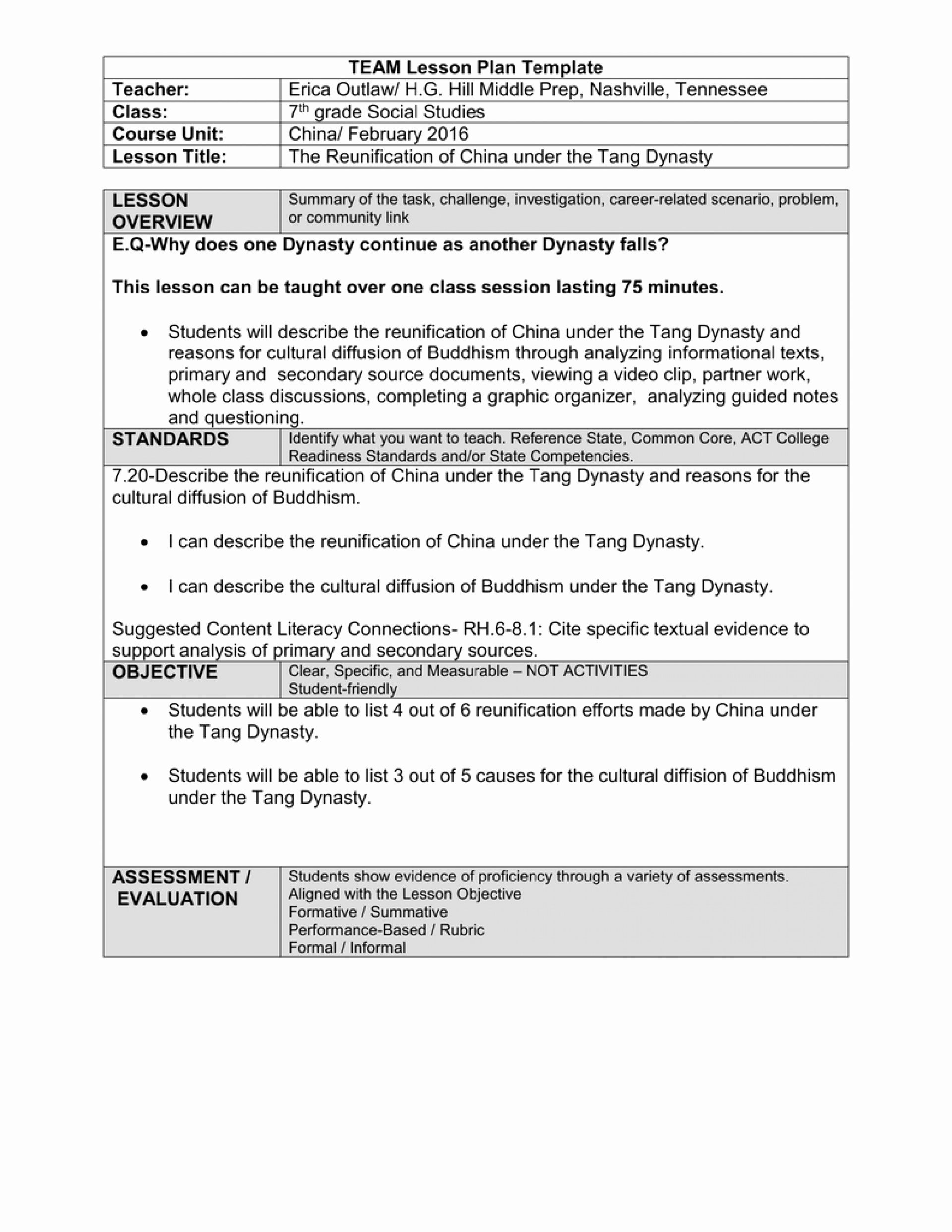 Team Lesson Plan Template Lovely 003 Tennessee Lesson Plan Template Team Design Tinypetition