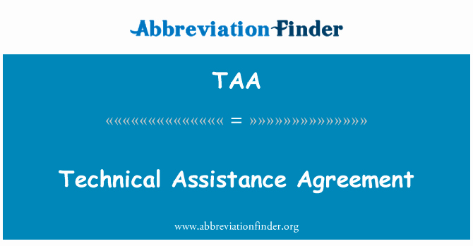 Technical assistance Agreement Sample Beautiful 定義 Taa 技術援助契約 Technical assistance Agreement