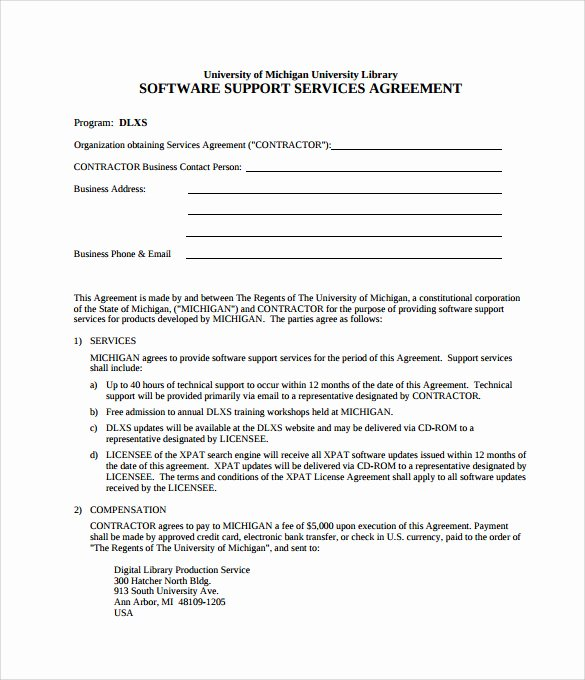 Technical assistance Agreement Sample Inspirational 10 It Support Contract Templates to Download for Free