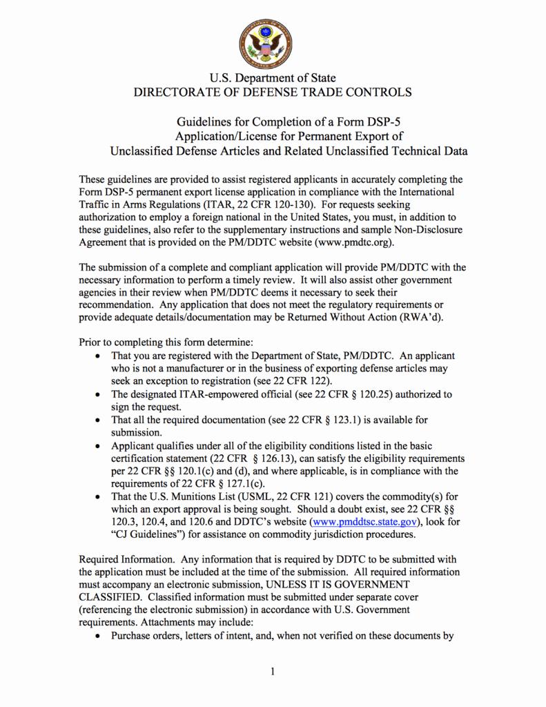 obtain atf itar export license