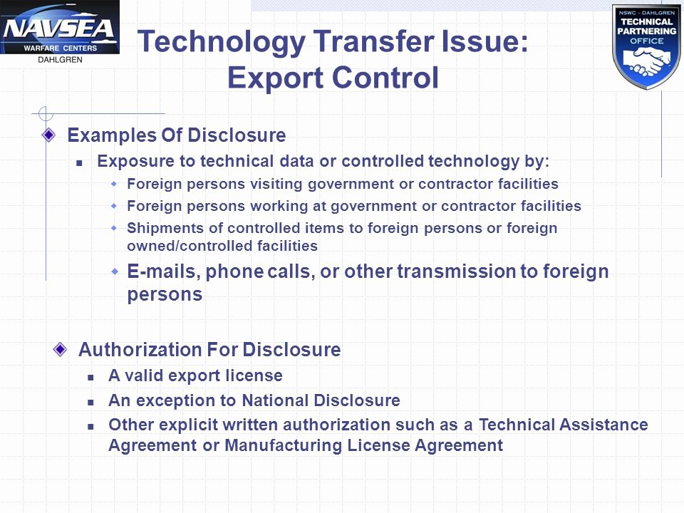 Technical assistance Agreement Sample Unique Fice Of Research and Technology Applications Nswc