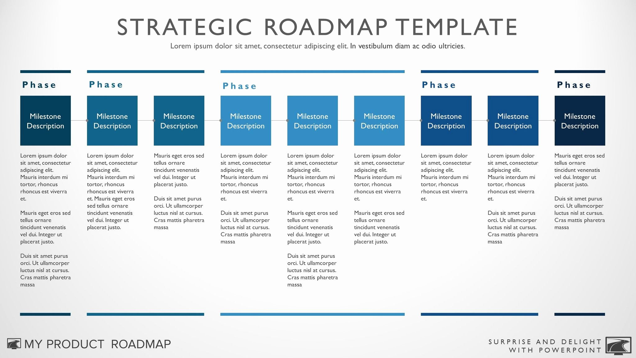 Technology Business Plan Template Inspirational Nine Phase Business Timeline Roadmapping Presentation