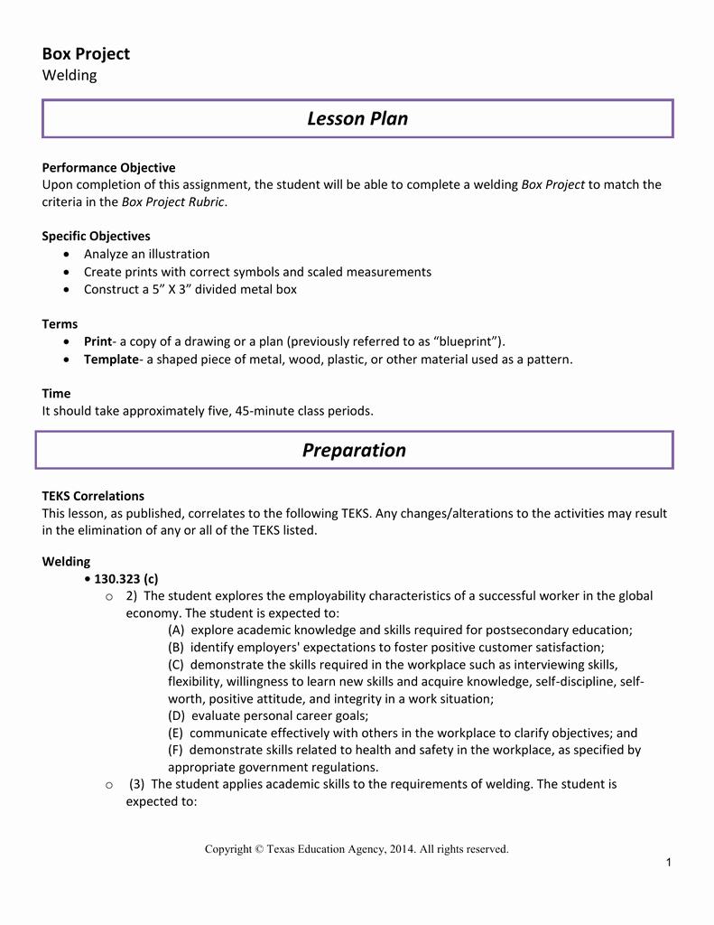 Teks Lesson Plan Template Best Of 45 Minute Lesson Plan Template – Pre Kindergarten Lesson