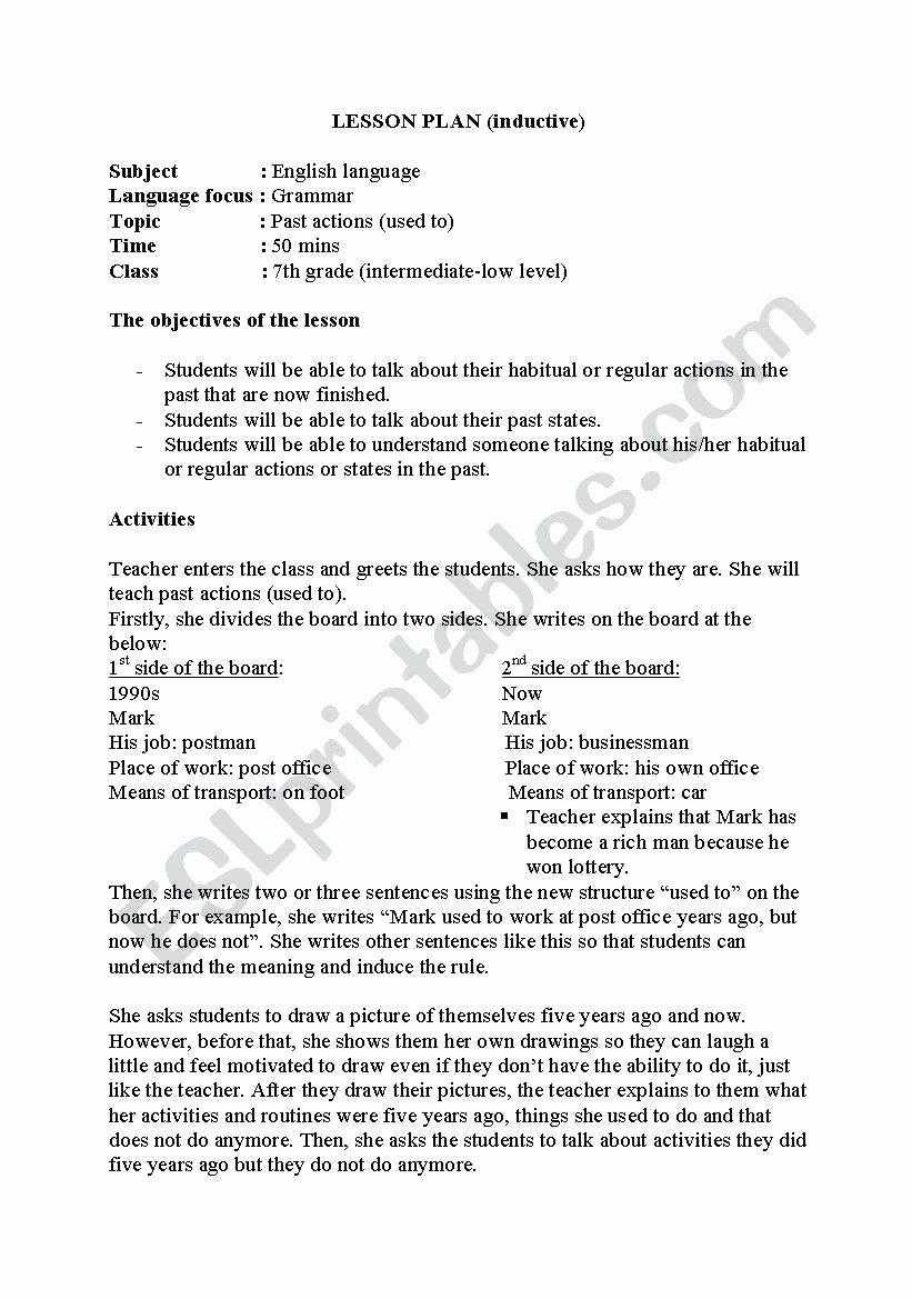 Teks Lesson Plan Template Fresh Seventh Grade English Lesson Plans 7th Grade Ela Teks