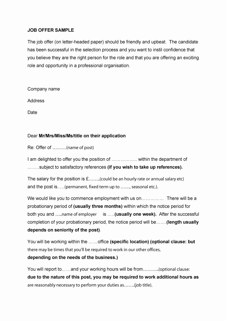 Temp to Perm Offer Letter Awesome 44 Fantastic Fer Letter Templates [employment Counter