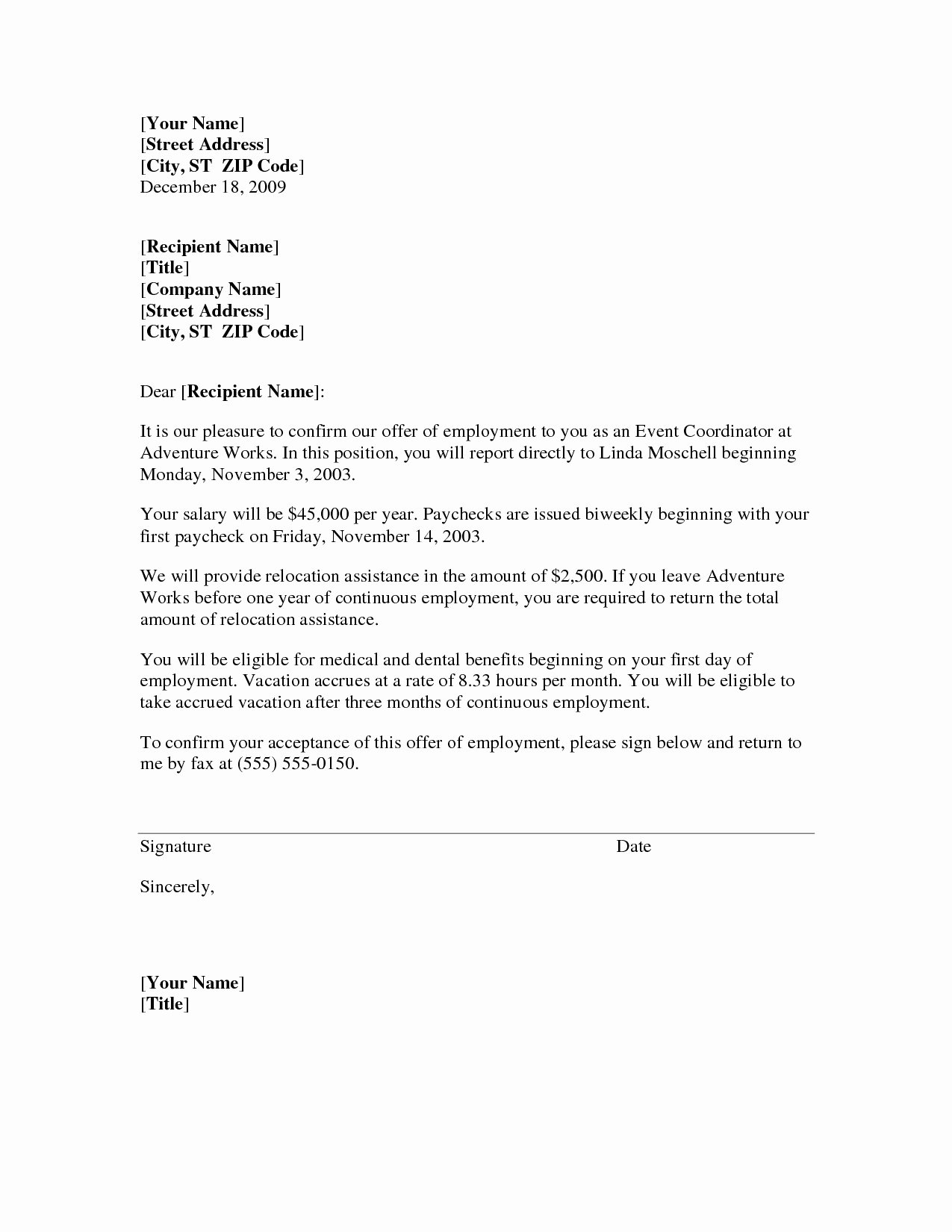 Temp to Perm Offer Letter Beautiful Temp to Perm Fer Letter Template Download