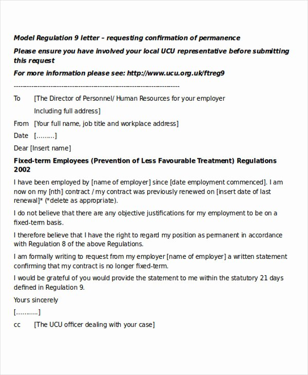 Temp to Perm Offer Letter Lovely 28 Job Letter formats
