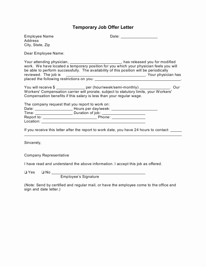 Temp to Perm Offer Letter New Temporary Job Fer Letter Coachdave