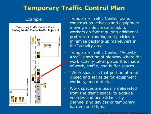 Temporary Traffic Control Plan Template Lovely Vehicle Backing Procedures