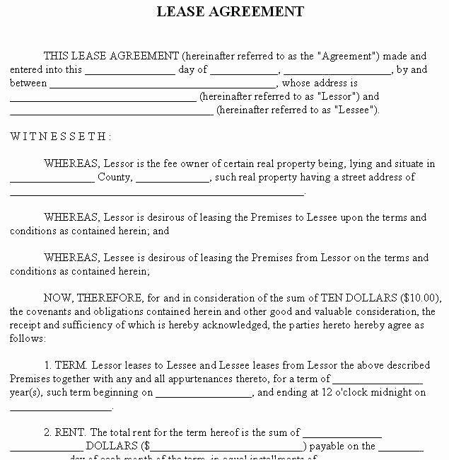 Tenant Buyout Agreement Elegant Lease Agreement Doc