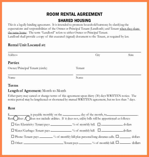 Tenant Buyout Agreement Example Best Of 9 Tenancy Agreement Template for Renting A Room