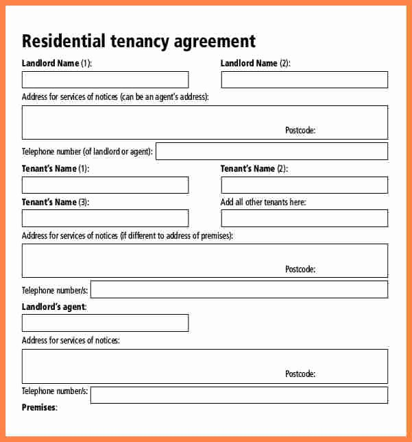 Tenant Buyout Agreement Example Elegant 6 assured Shorthold Tenancy Agreement Template