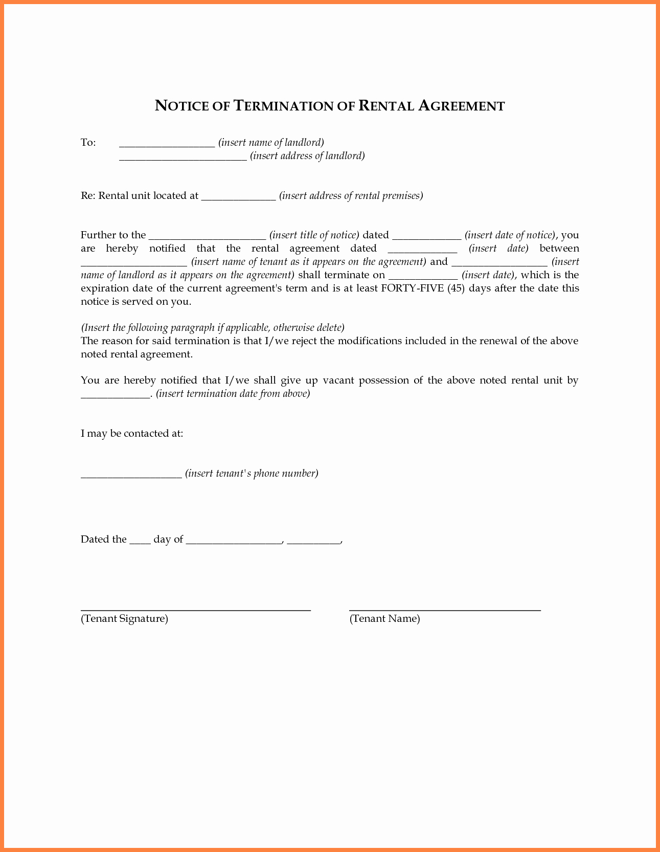 Tenant Buyout Agreement Example Fresh 6 Termination Of Lease Agreement by Landlord