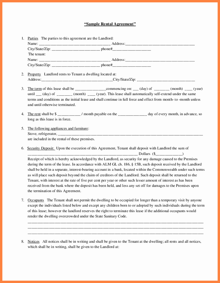 Tenant Buyout Agreement Example Inspirational Landlord and Tenant Agreement Template