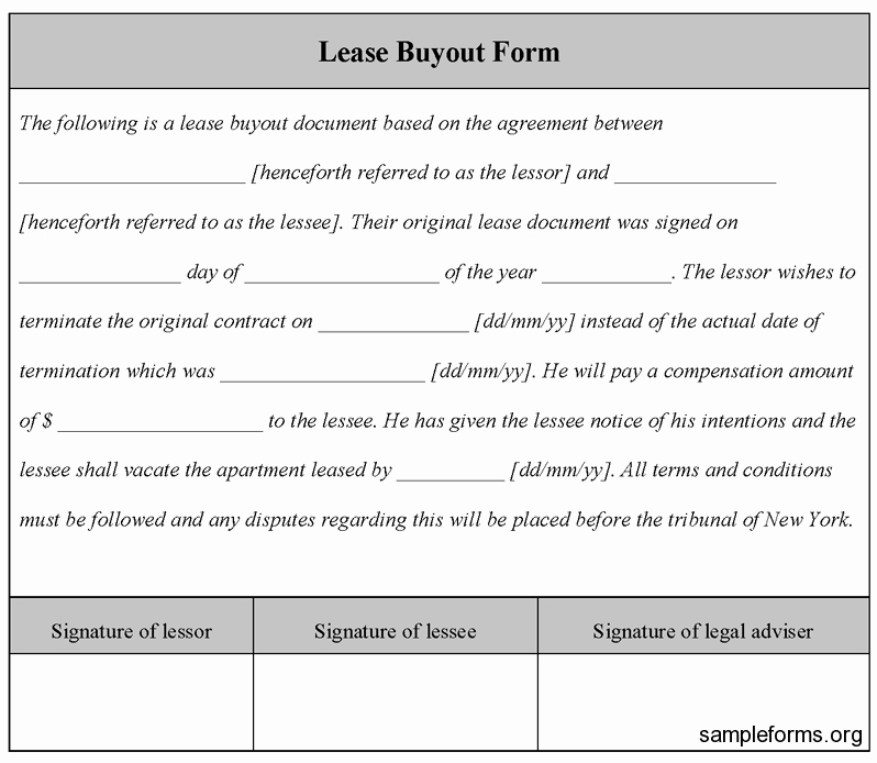 Tenant Buyout Agreement Example Inspirational Selling Out How to Negotiate A Tenant Buyout In San