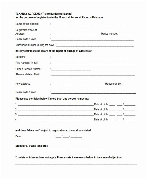 Tenant Buyout Agreement Inspirational Sample Agreement form 20 Free Documents In Word Pdf