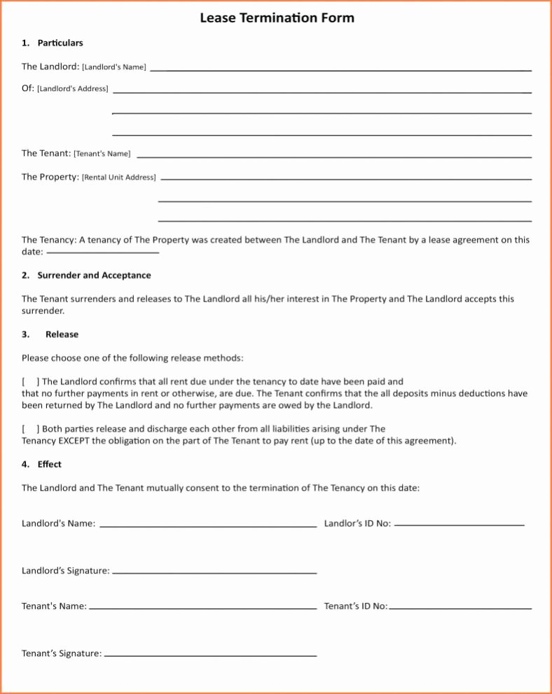 Tenant Buyout Agreement Luxury Tenant Agreement Template