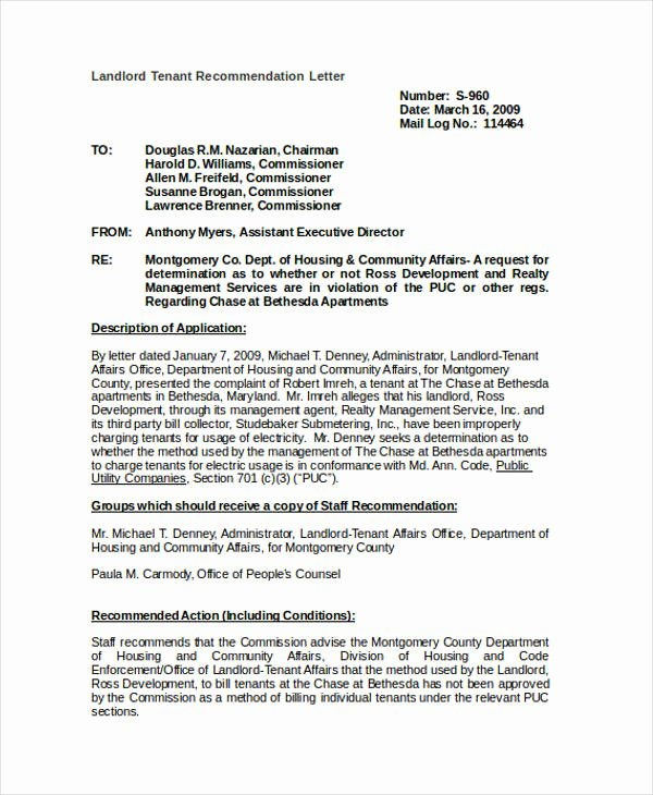Tenant Letter Of Recommendation Luxury 89 Re Mendation Letter Examples & Samples Doc Pdf