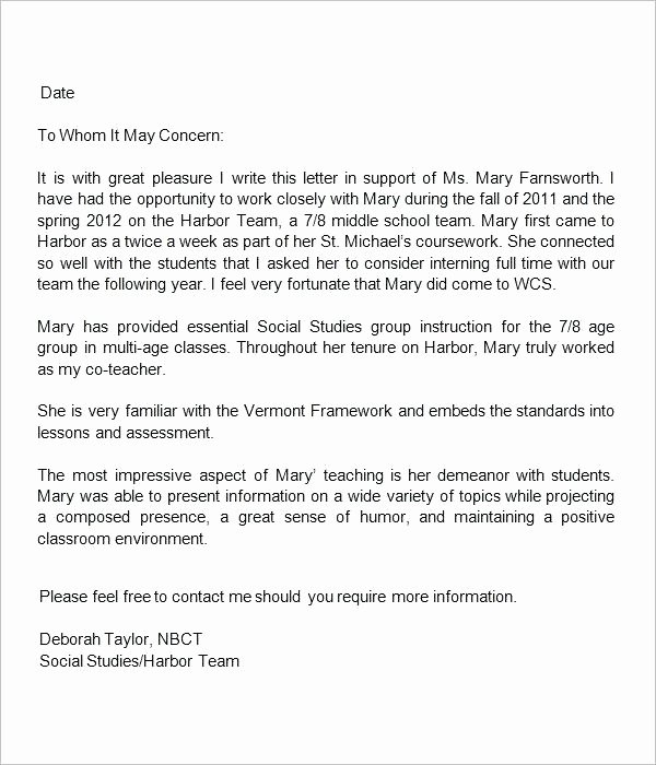 Tenure Recommendation Letter From Student Lovely format Of Re Mendation Letter for Student – Benvickers