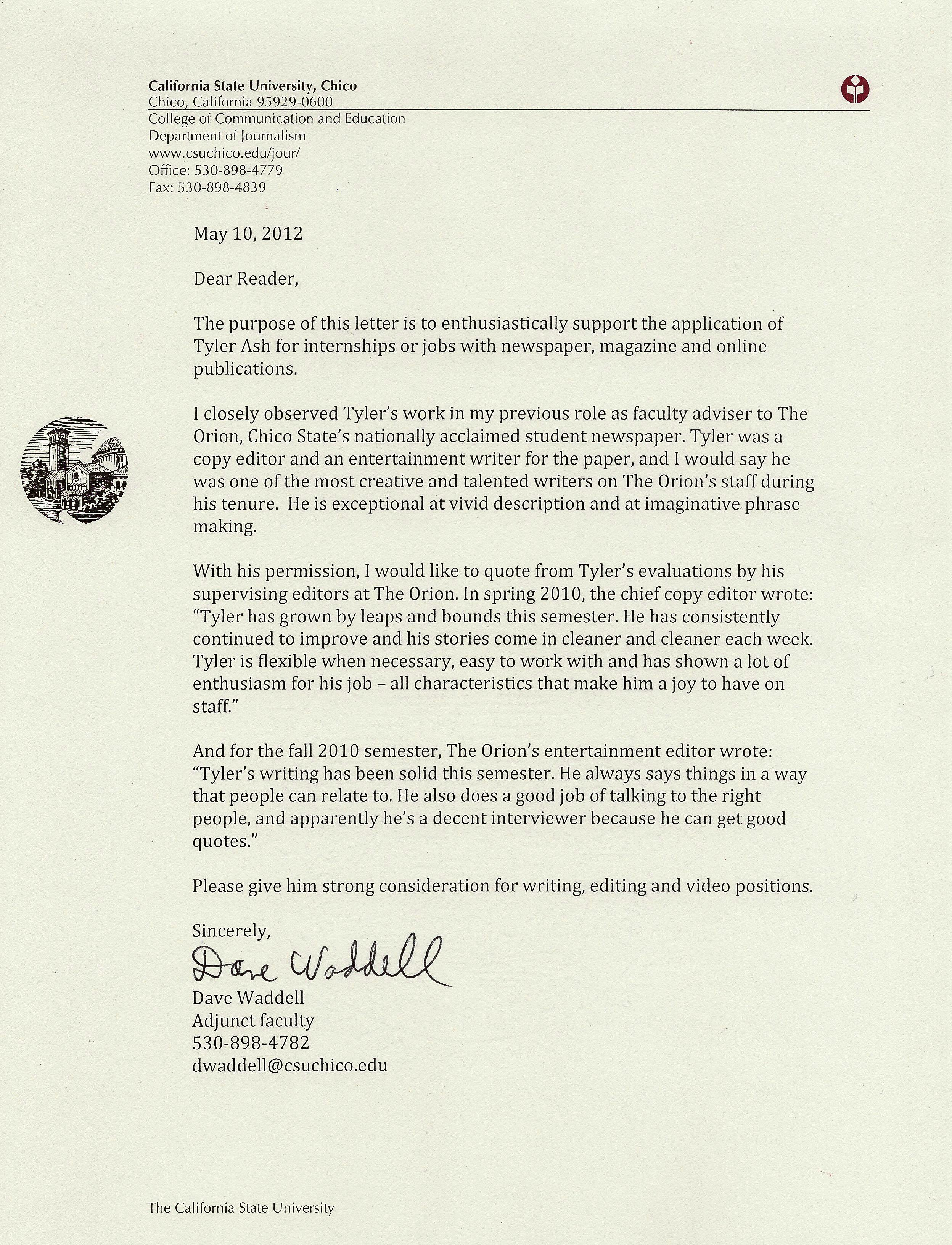 Tenure Recommendation Letter From Student Lovely Letter Of Re Mendation From former Faculty Advisor Of