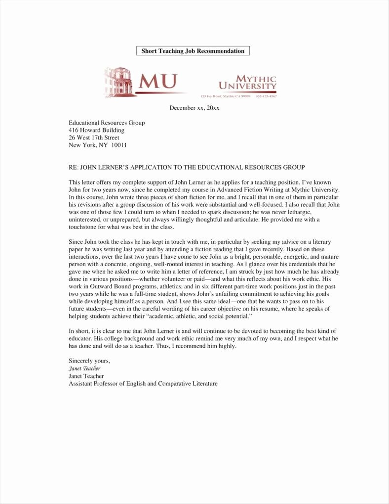 Tenure Recommendation Letter From Student New 9 Teacher Promotion Letter Templates Free Pdf Doc