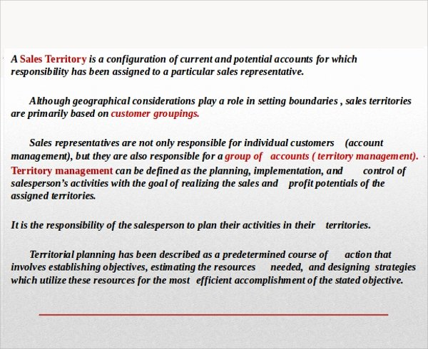 Territory Management Plan Template Luxury Sample Territory Plan Template 8 Free Documents In Pdf