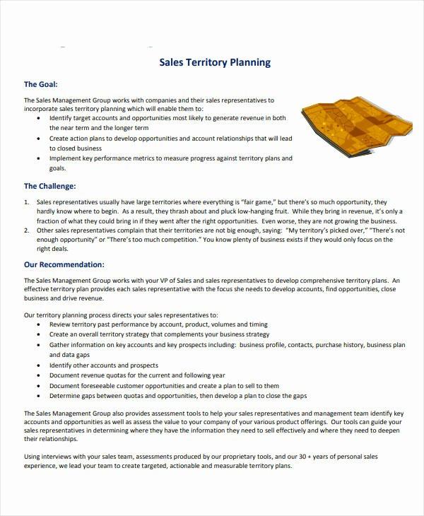Territory Sales Plan Template Beautiful 7 Territory Sales Plan Templates Pdf