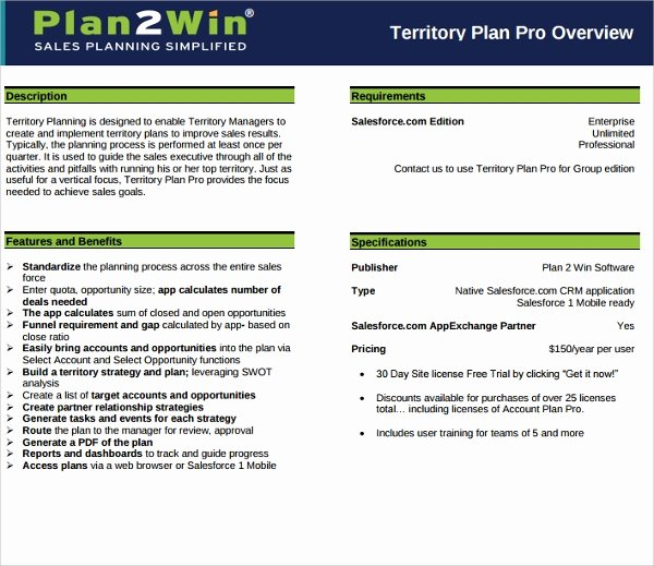 Territory Sales Plan Template Best Of Sample Territory Plan Template 8 Free Documents In Pdf