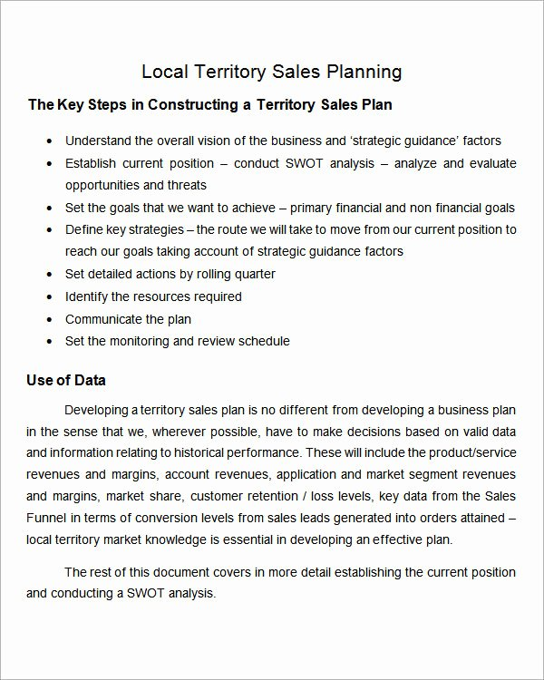 Territory Sales Plan Template Fresh 29 Sales Plan Templates Pdf Rtf Ppt Word Excel