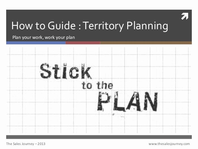 Territory Sales Plan Template Unique Territory Planning the Sales Journey