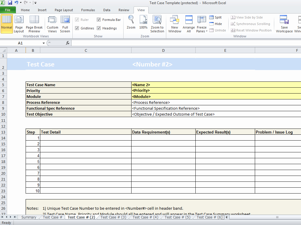 Test Plan Template Excel Best Of Test Case Template