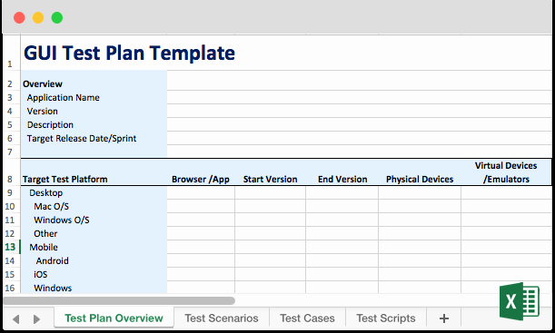 Test Plan Template Excel Inspirational Ui & Gui Testing
