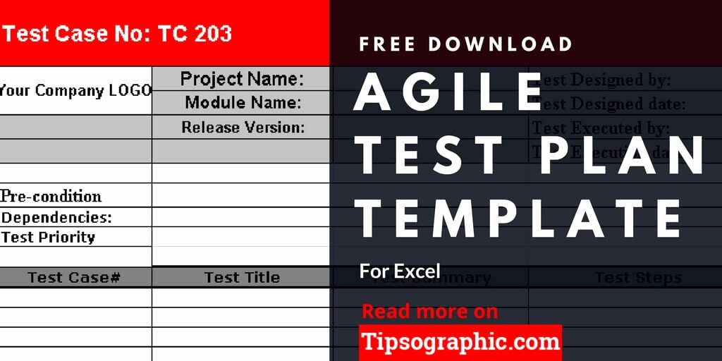 Test Plan Template Excel Unique Agile Test Plan Template for Excel Free Download