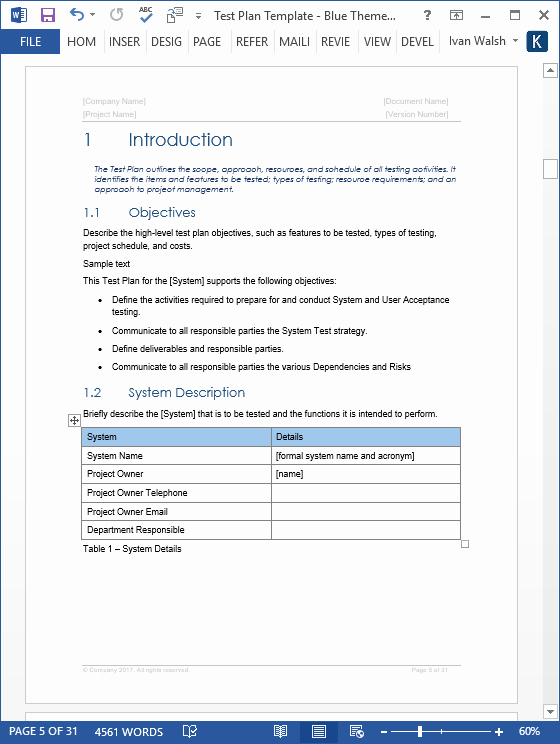 Test Plan Template Excel Unique Test Plan – Download Ms Word & Excel Template