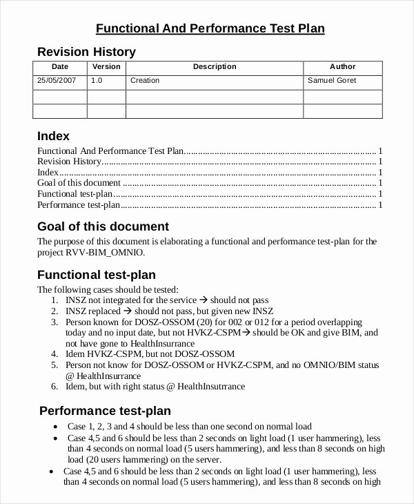 Test Plan Template Word Awesome 17 Test Plan Templates
