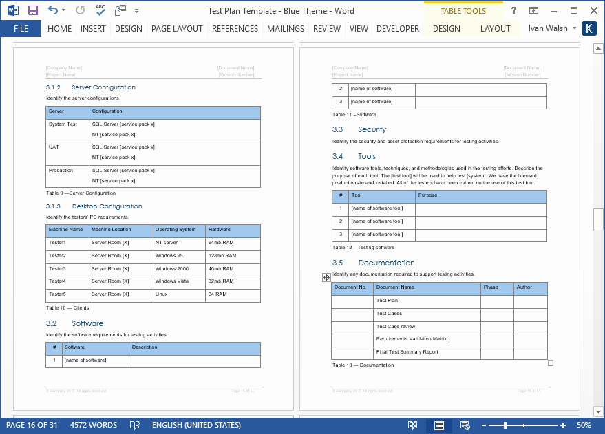 Test Plan Template Word Awesome Test Plan – Download Ms Word & Excel Template