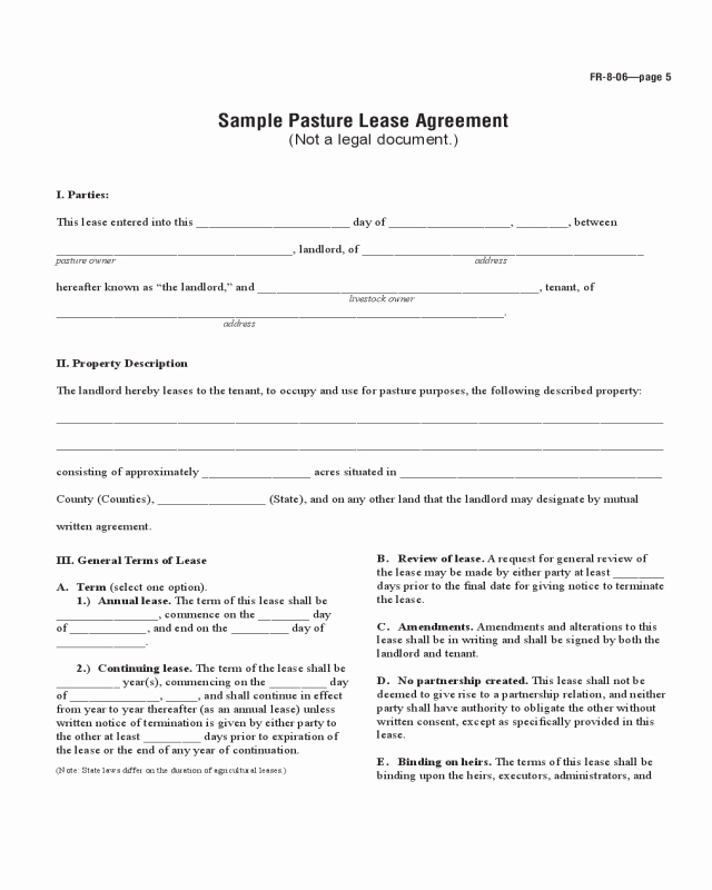 Texas Grazing Lease Agreement Template Inspirational Farmland Rental and Lease form Ohio Edit Fill Sign