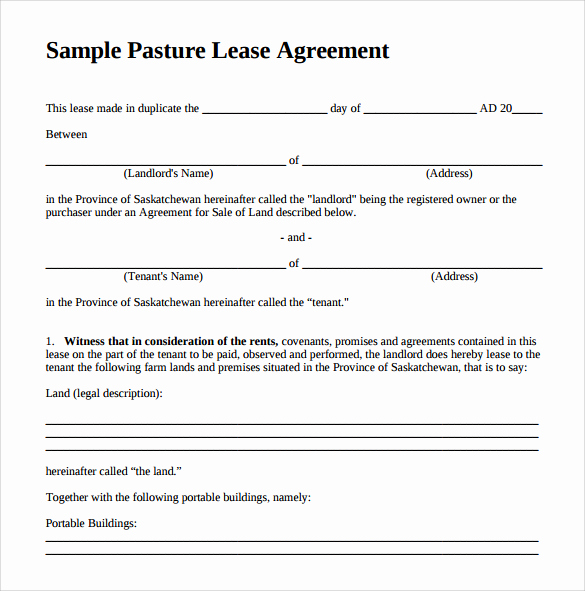 Texas Grazing Lease Agreement Template Lovely Pasture Lease Agreement Video Search Engine at Search