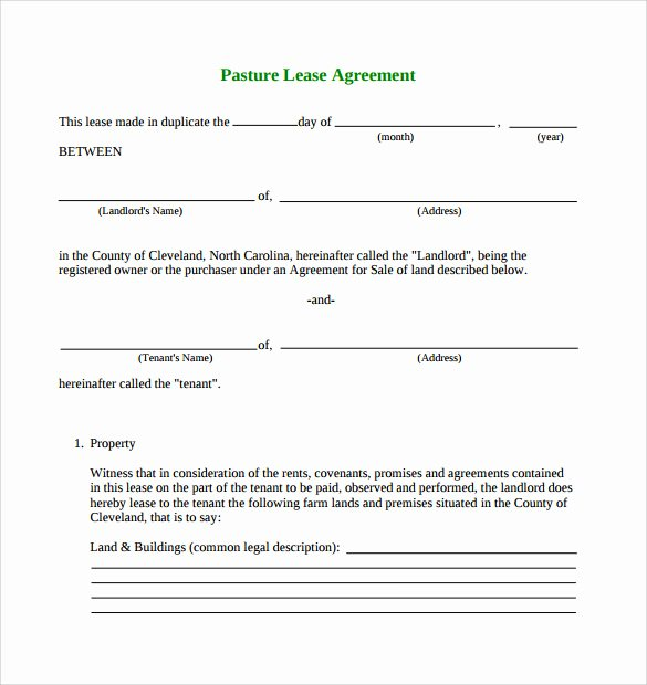 Texas Grazing Lease Agreement Template Unique Pasture Lease Agreement Video Search Engine at Search