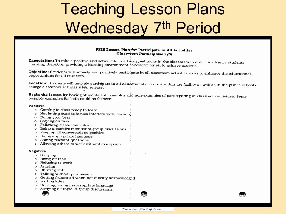 Texas Lesson Plan Template Lovely Texas Rising Star Lesson Plan Template